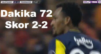 Fenerbahçe skoru 2-2 ye getirdi