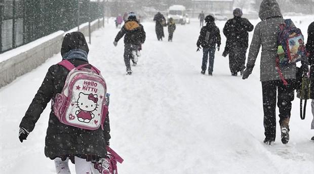 Yoğun Kar İki İlde Okulları Tatil Etti