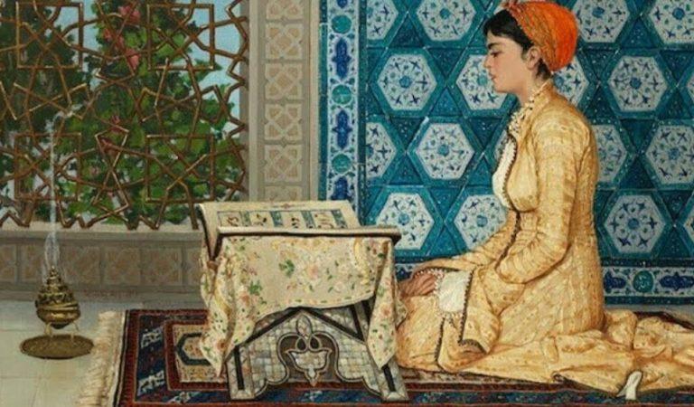 Osman Hamdi Bey Kuran Okuyan Kız Tablosu